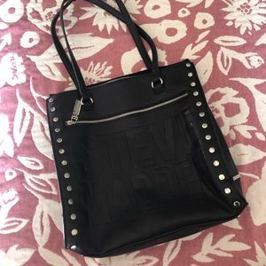 Black and silver Steve Madden purse